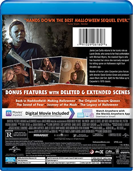 Amazon com: Halloween (2018) [Blu-ray]: Jamie Lee Curtis