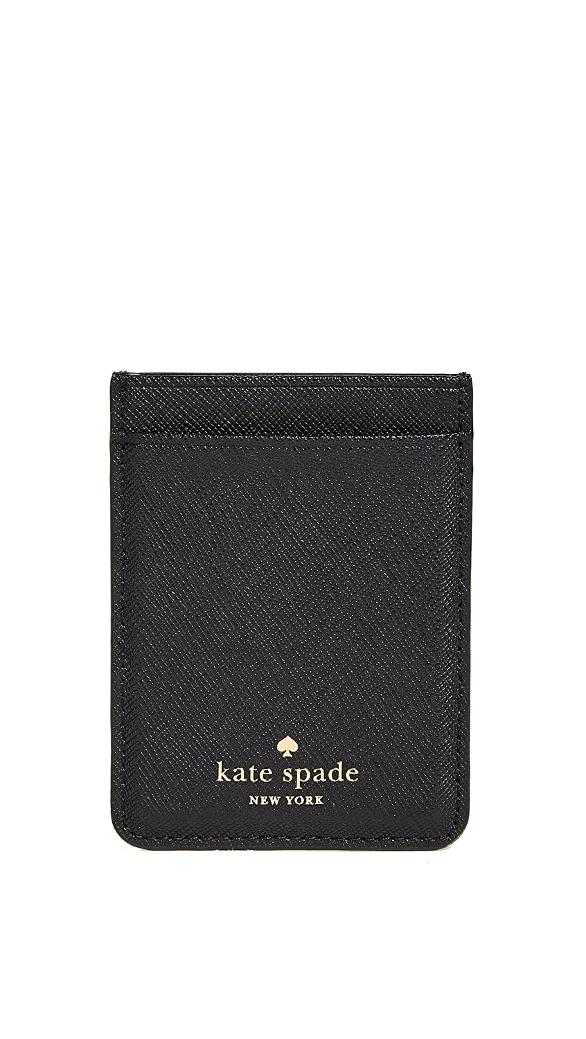 check out 766b1 52a98 Kate Spade New York Double Sticker Phone Pocket, Black, One Size