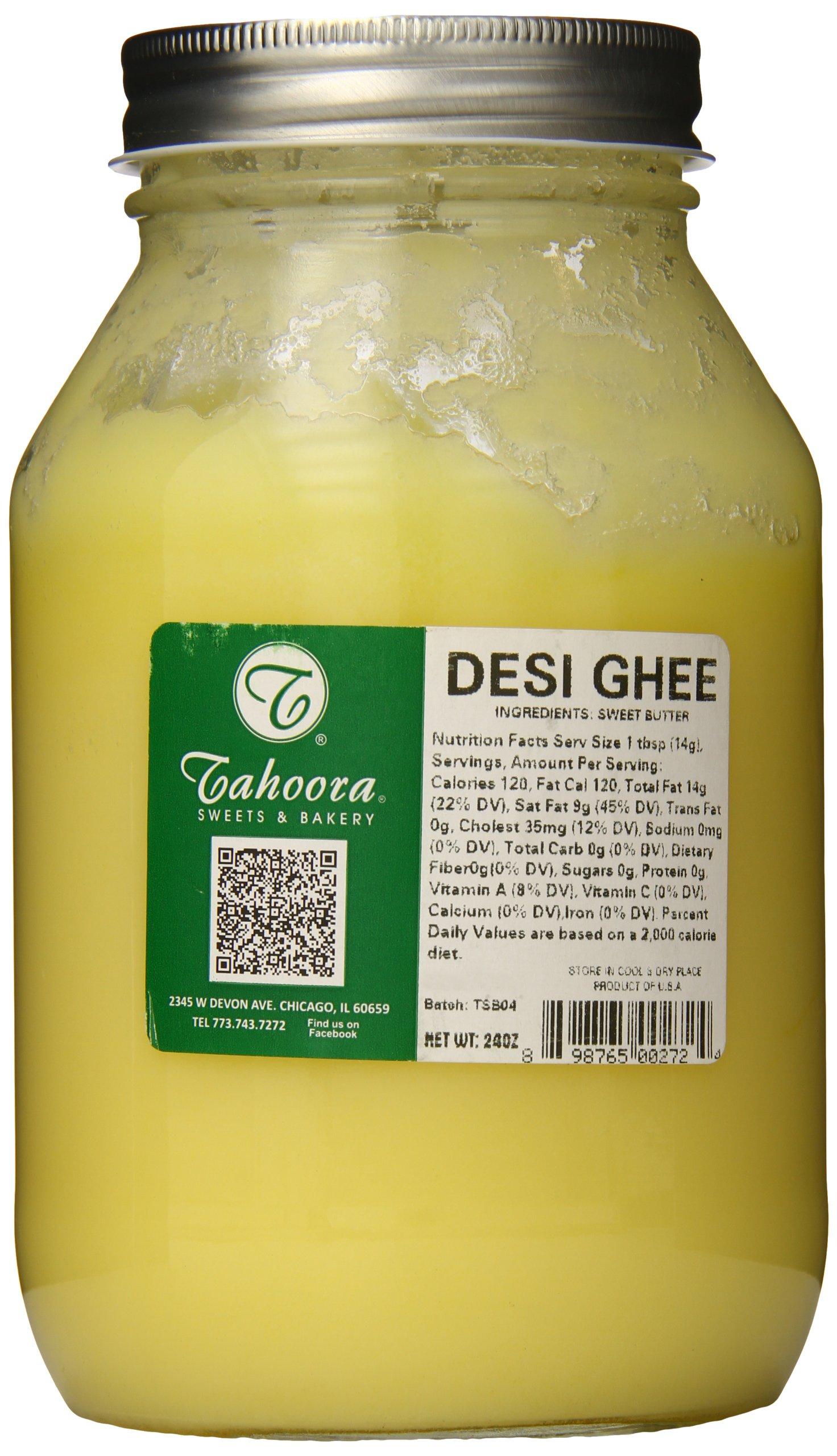Tahoora Desi Pure Ghee Clarified Butter, 24 Ounce