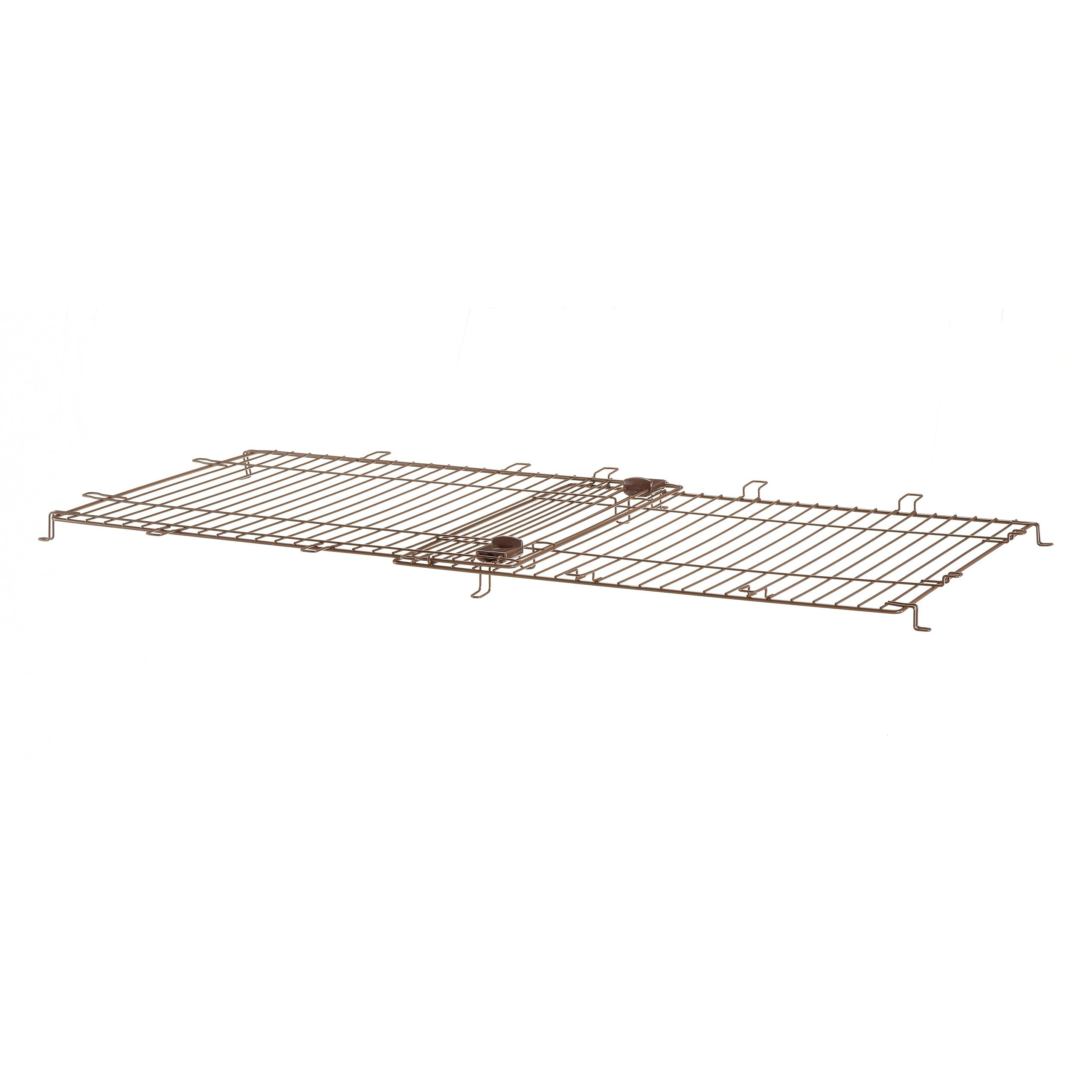 Richell Expandable Pet Crate Wire Top, Medium, Dark Brown