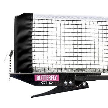 Butterfly Table Tennis Clip Net & Post Set: Amazon.co.uk: Sports ...