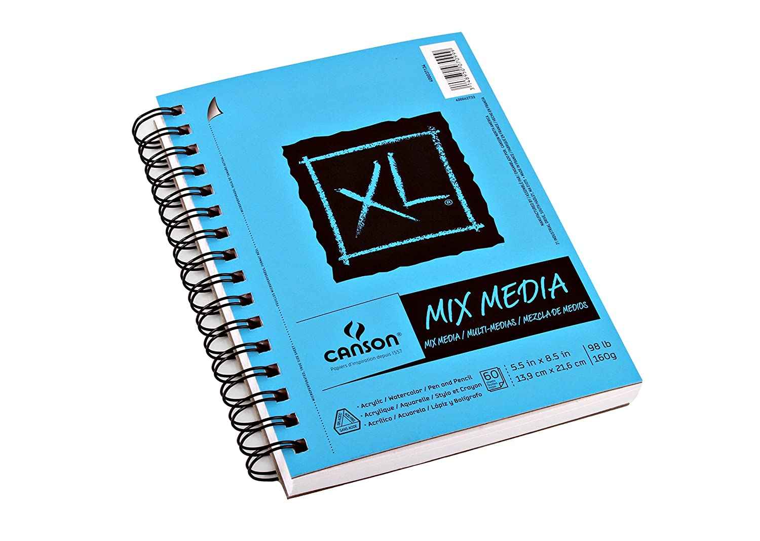 11X14 Side Wire Canson XL Series Mix Media Pad
