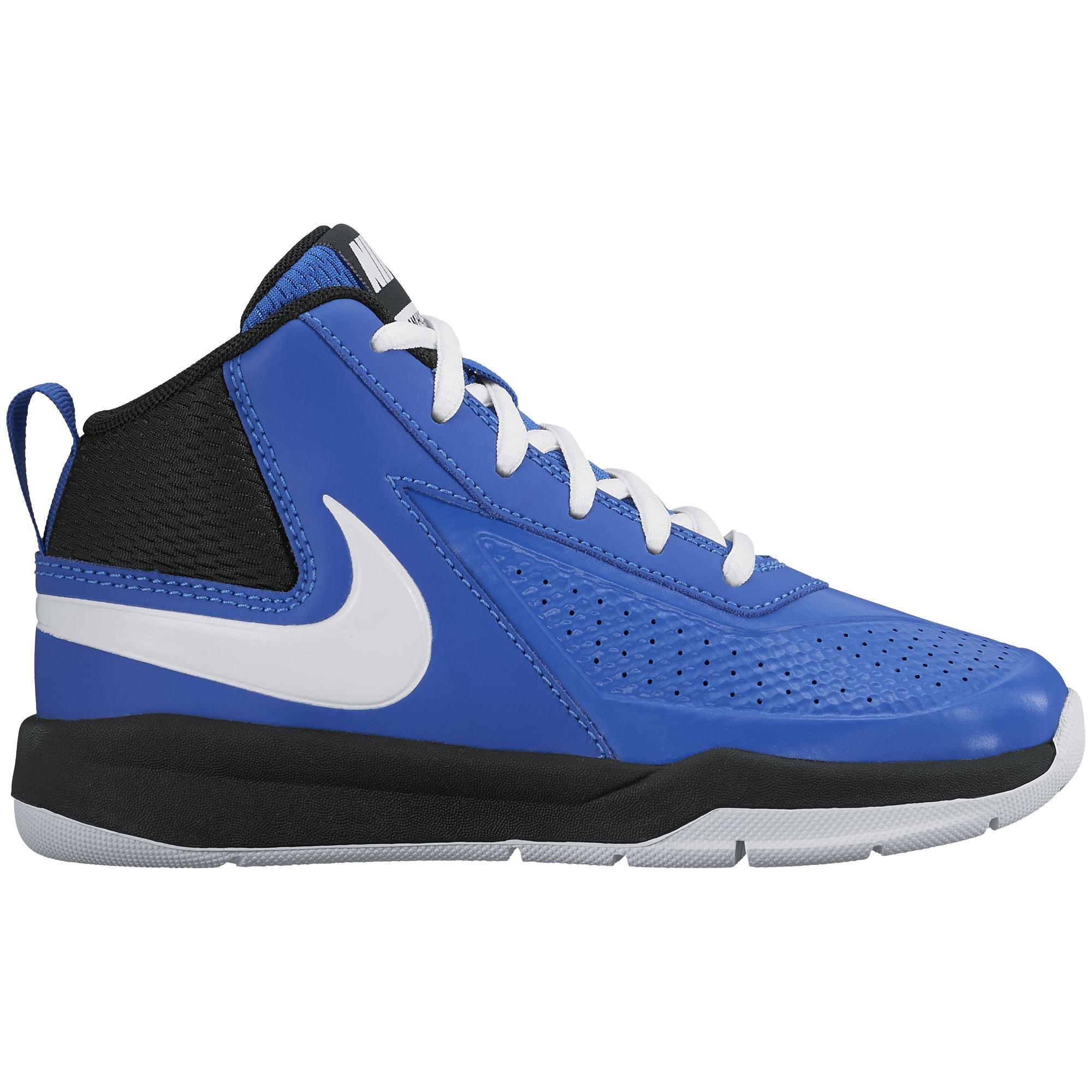 Nike Boy's Team Hustle D 7 Basketball Shoe Game Royal/White/Black Size 12.5 Kids US