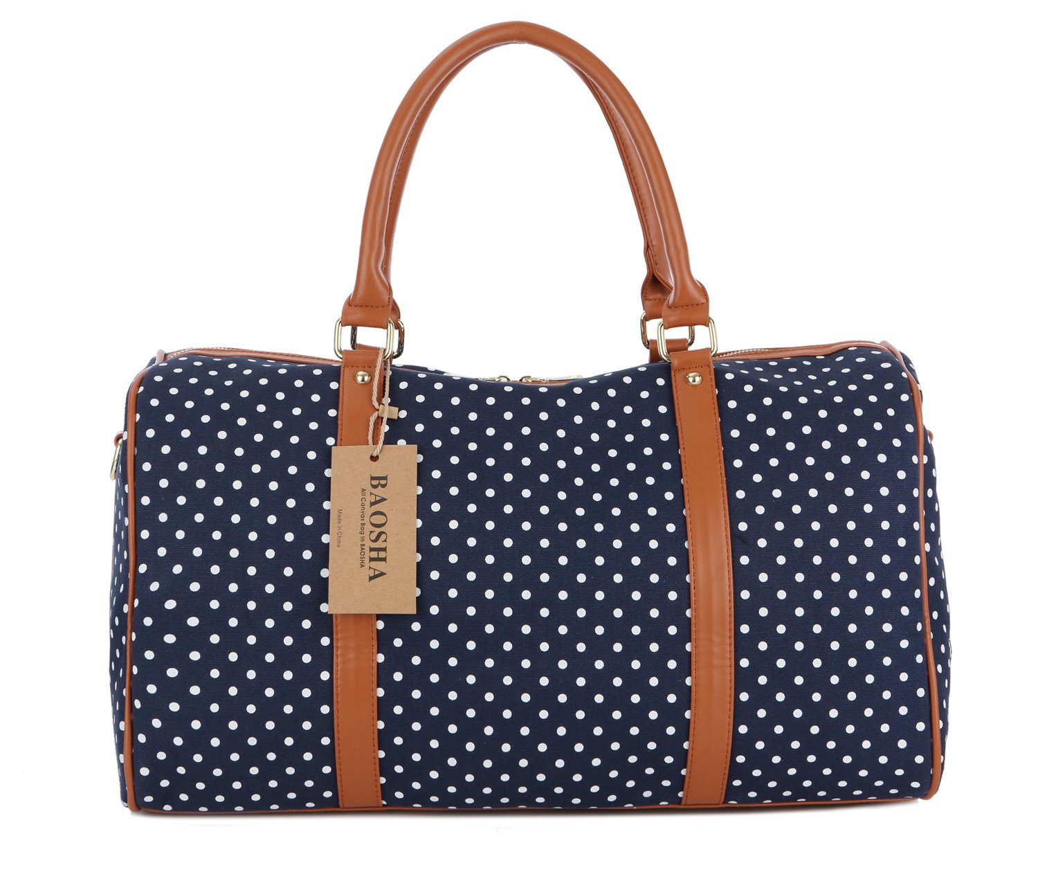 2cf7244428e2 Details about BAOSHA HB-25 Cute Lady Women Canvas Travel Bag Weekender  Overnight Bag Carry-on