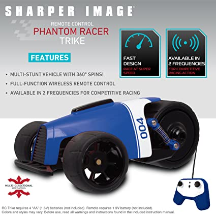 Amazoncom Sharper Image Rc Car Blue Phantom Racer Trike Remote