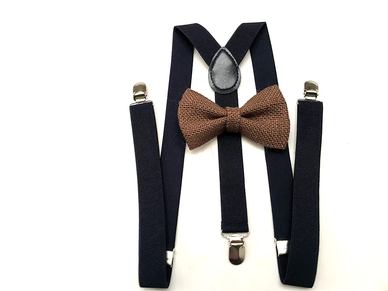 Bowties /& Suspenders Set for Adults Navy Blue Bow tie and Suspender