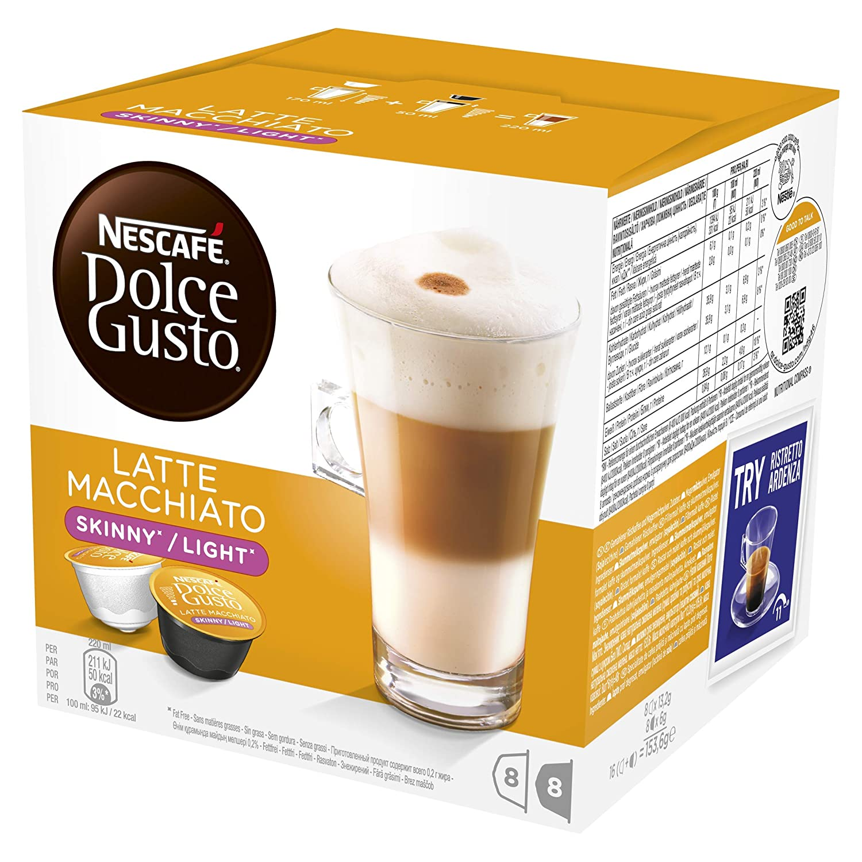 NESACAFÉ Dolce Gusto | Capsulas de Café Latte Macchiato Light - Pack de 3 x 16 Cápsulas - Total: 48 Cápsulas