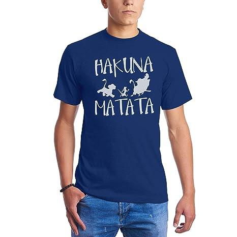 Hakuna Matata No Problems Disney King Lion Camisetas para Hombre: Amazon.es: Ropa y accesorios