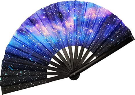 The MAMASAN Colorful Hand Fan Folding Fan NEW