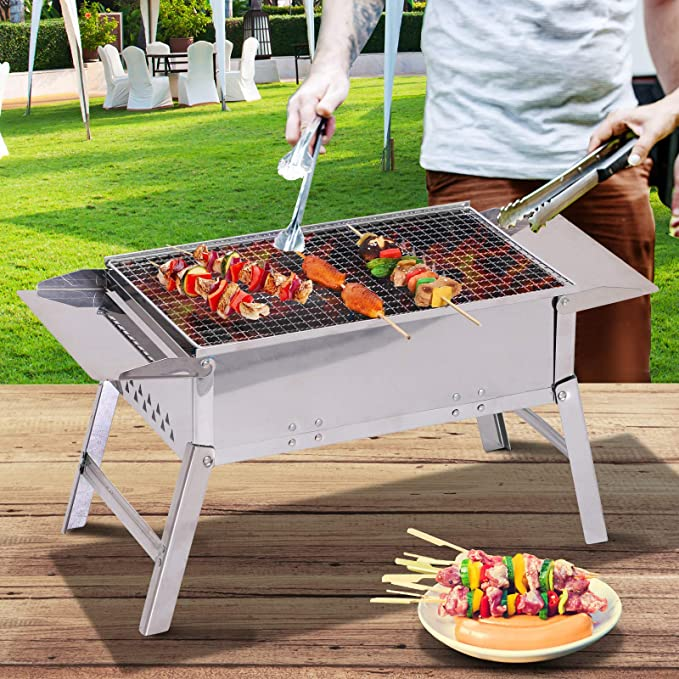 Amazon.com: Outsunny - Parrilla de acero inoxidable para ...