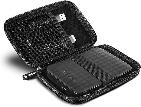 Duronic HDC2 - Estuche de Caucho EVA pequeño con Cremallera para Disco Duro Externo (13 x 9 x 1,5 cm): Amazon.es: Informática