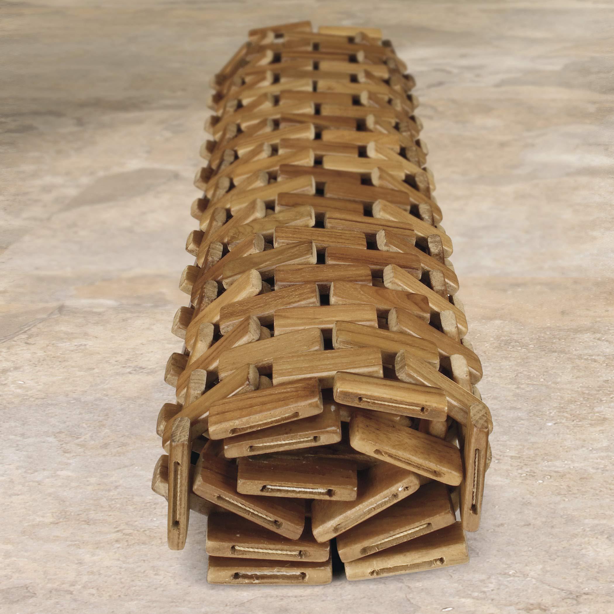 Conair Home Teak Spa Mat, Roll-Up or Lay Flat by Conair (Image #4)