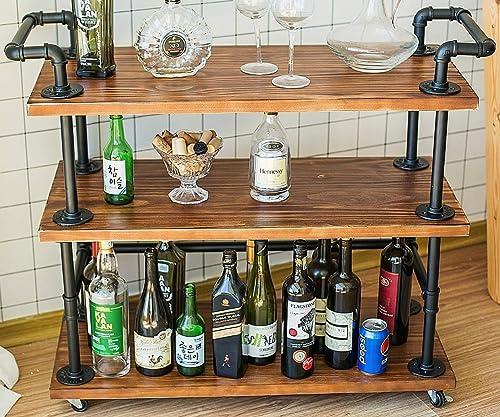Dorfurnilim Industrial Bar Cart