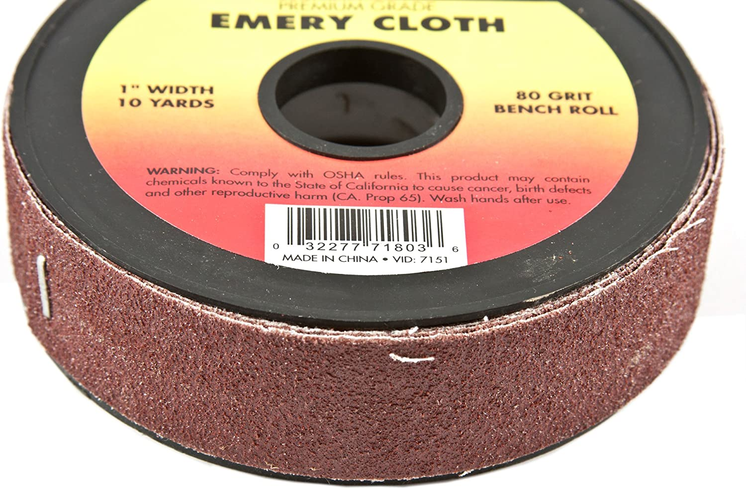 1-Inch-by-10-Yard Bench Roll Forney 71806 Emery Cloth 320-Grit