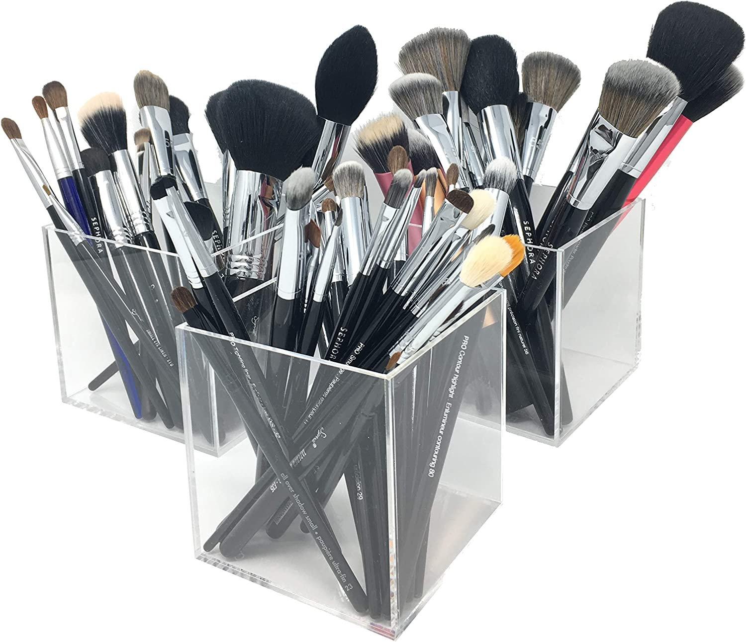 byAlegory Storage Cubes for Organizing Vanity Makeup Brushes and Cosmetic Beauty Items: Amazon.es: Belleza