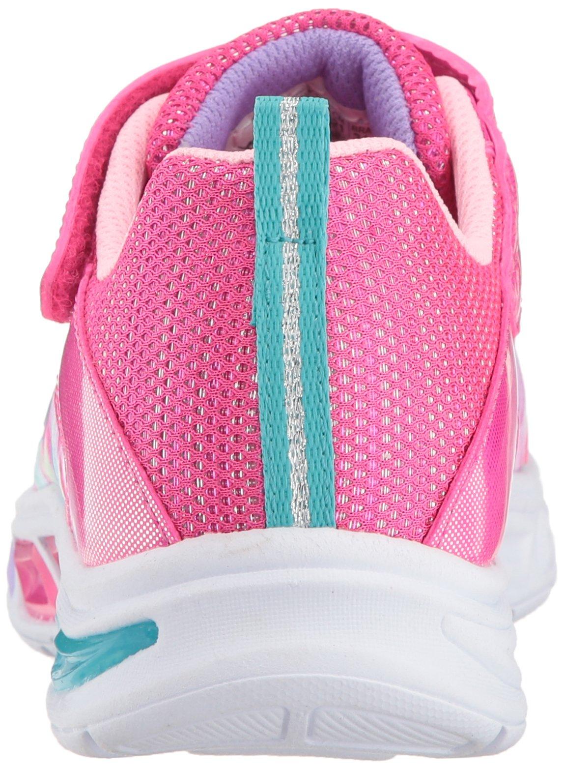 Skechers Kids Girls' Litebeams-Dance N'Glow Sneaker,neon Pink/Multi,1 Medium US Little Kid by Skechers (Image #2)