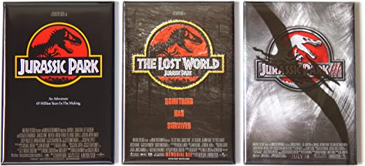 Jurassic Park Magnet 3 inch by 5 inches