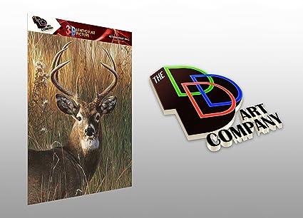 Amazon Com Buck Portrait Deer Hunting 3d Lenticular Poster