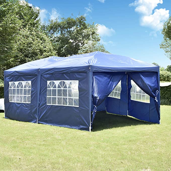 10X20FT Outdoor Party Tent Waterproof Folding Event Tent Gazebo Canopy Carry Bag