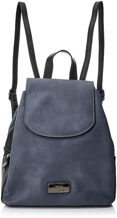XTI 85975, Bolso Mochila para Mujer, Azul (Navy) 28 x 34 x 18 cm: Amazon.es: Zapatos y complementos