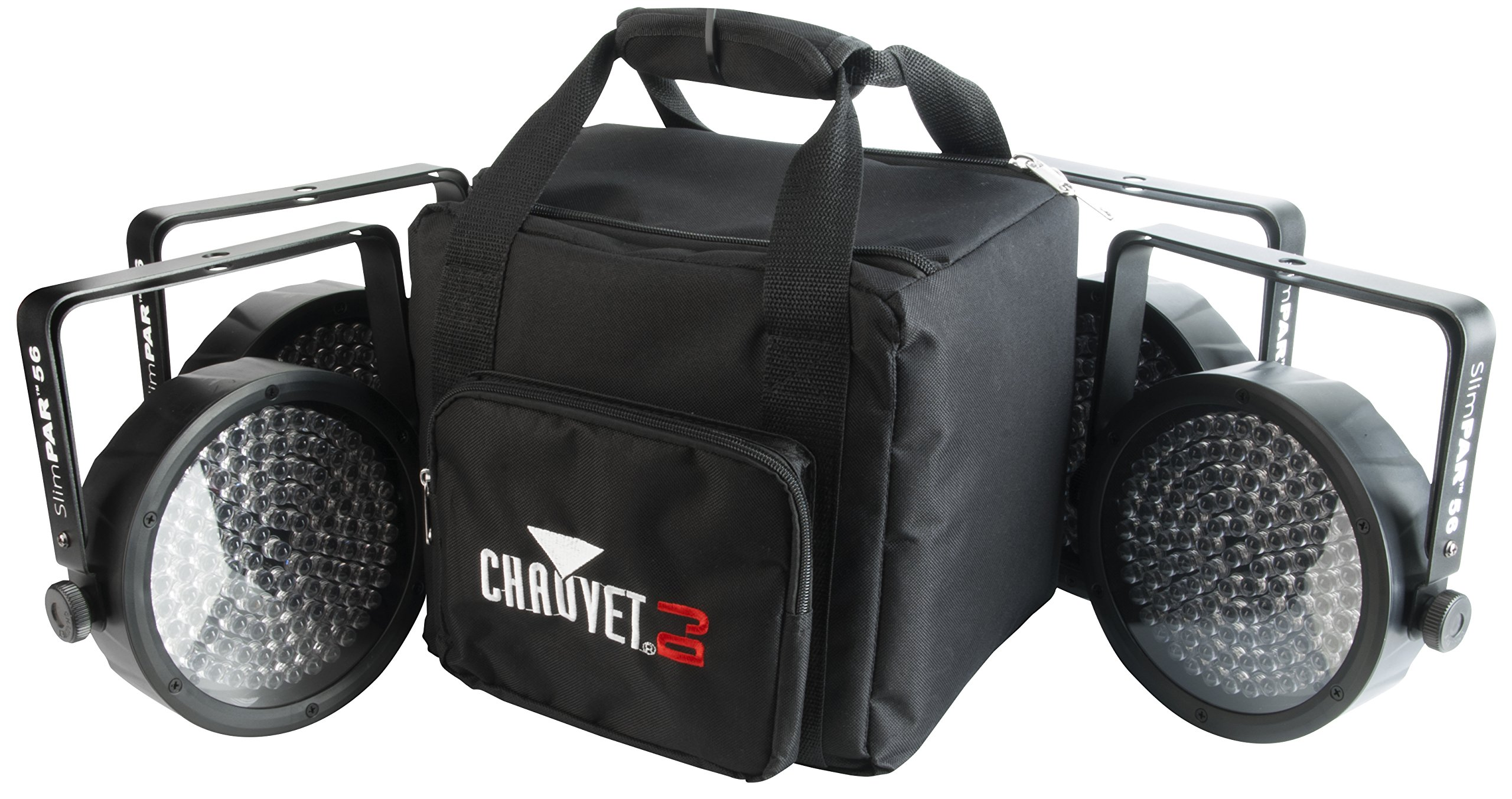 CHAUVET DJ SlimPACK 56 LT - 4 SlimPAR 56 Wash Lights & 3 DMX Cables w/CHS-SP4 VIP Gear Bag   LED Lighting by CHAUVET DJ