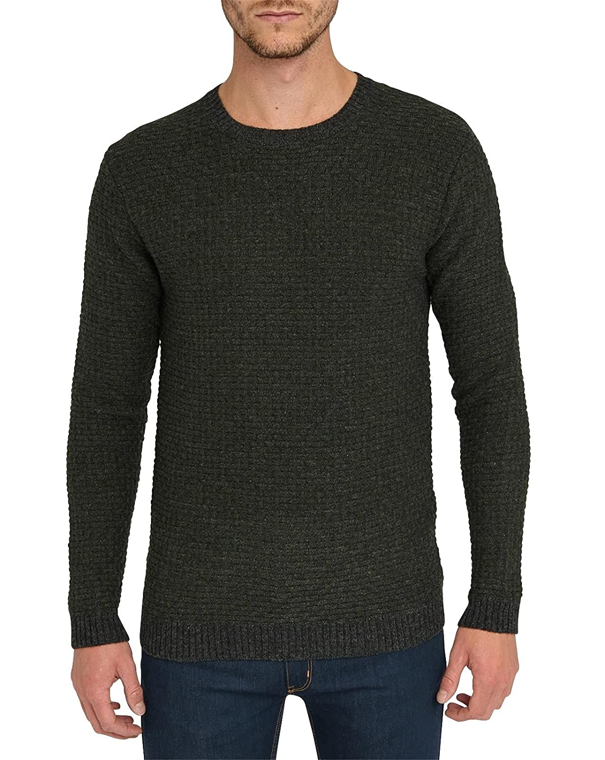 MINIMUM - Crew-neck Sweaters - Men - Khaki Meza Knit Sweater for men