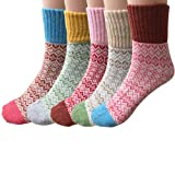 Amazon Price History for:Pack of 5 Womens Thick Knit Warm Casual Wool Crew Winter Socks