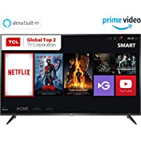 TCL 125.64 cm (50 inches) 4K Ultra HD Smart LED TV 50P65US (Black) (2019 Model) | Built-In Alexa