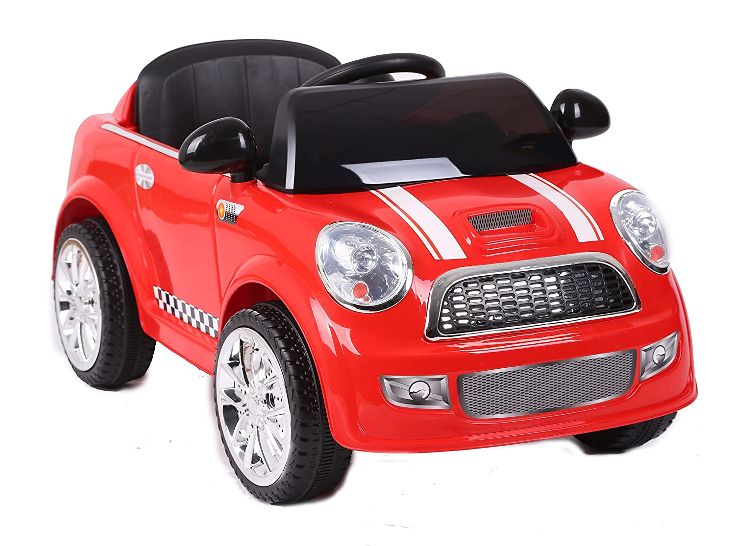 Kids Electric Battery Powered Ride On MINI Style Toy Car with Parental Remote Control (Model: S6088) (RED) RICCO