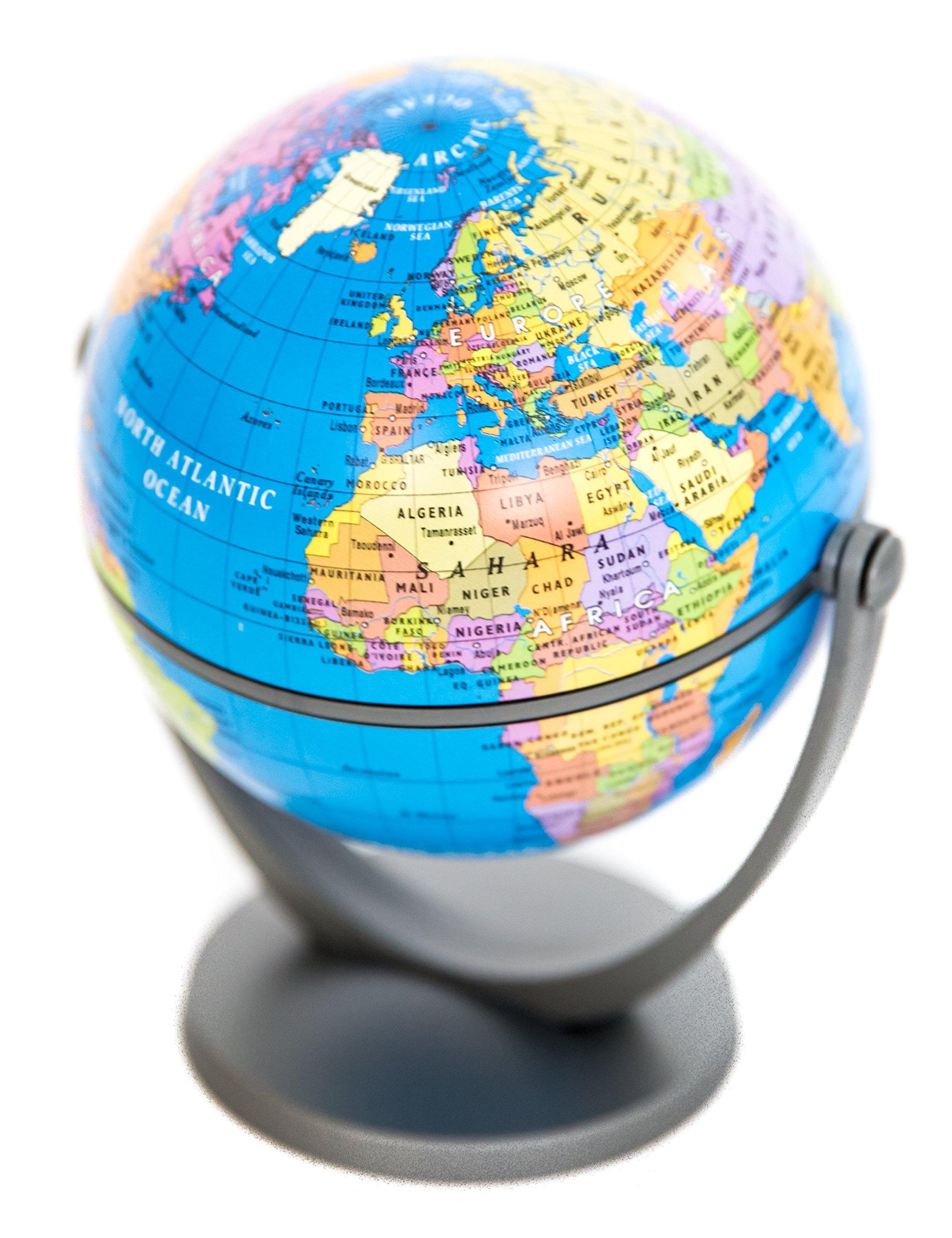 Mini Tilt & Swivel Political Globe of the World 4''