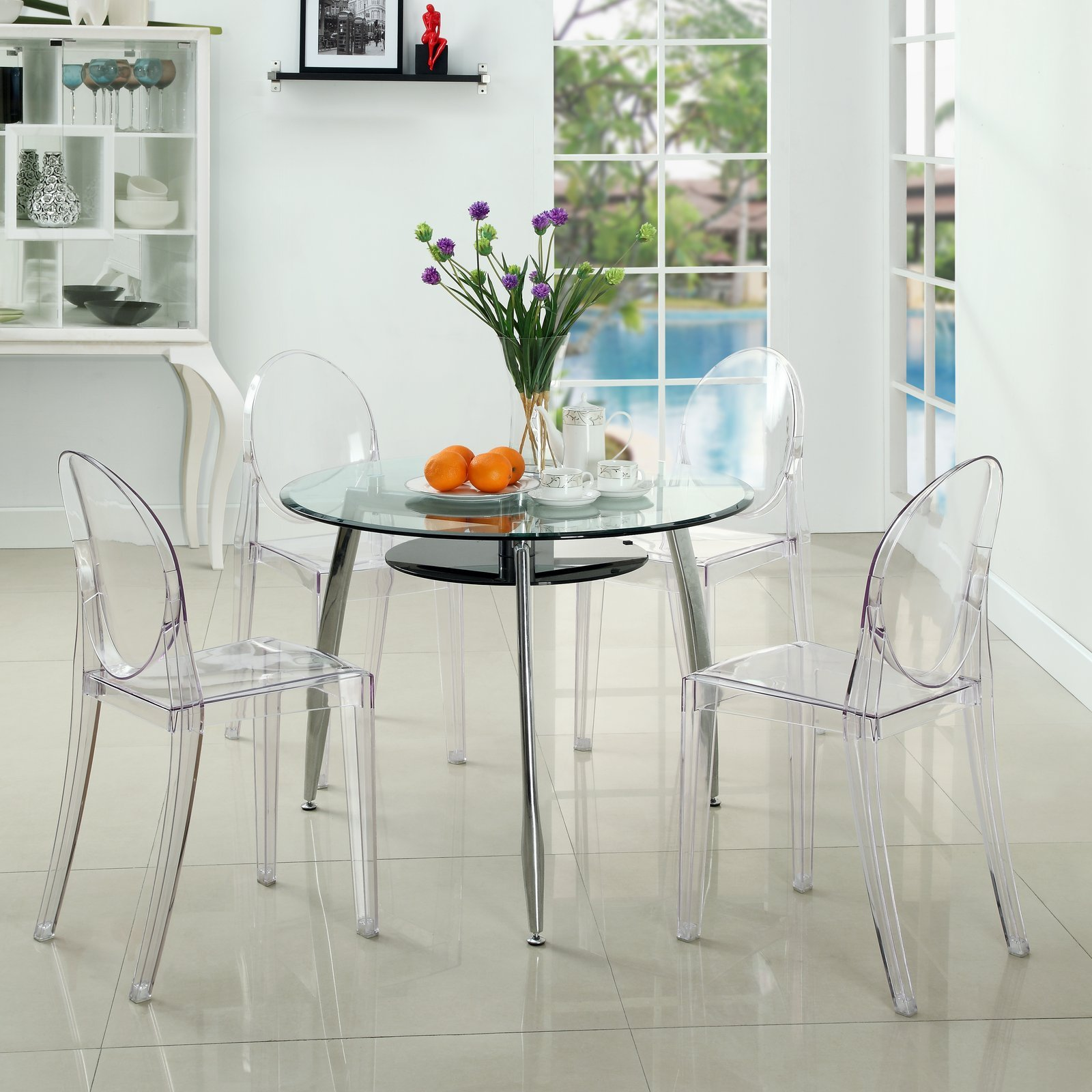 Modway Casper Dining Side Chair in Clear by Modway (Image #6)