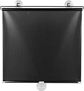 IMIKEYA Suction Cup Window Blackout Free- Perforated Balcony Sunshade Curtain Temporary Blinds Windshield Sun Shade for Car Home Window Black 50X125CM