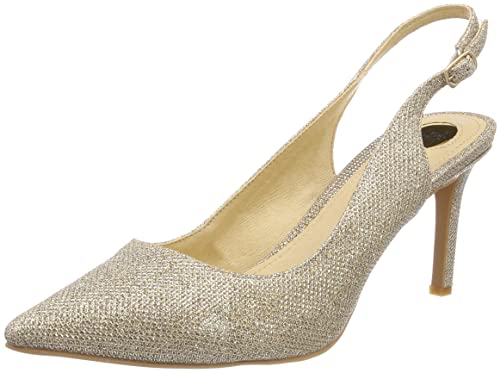 H733c-117 P1855d Glitter, Scarpe con Cinturino alla Caviglia Donna, Oro (Gold 01), 38 EU Buffalo