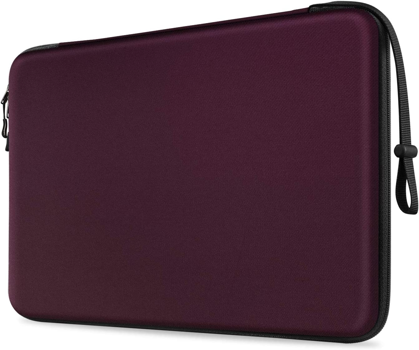 FINPAC 13-inch Hard Laptop Sleeve Compatible for 13.3'' MacBook Air/Pro, Shockproof Computer Laptop Carrying Case for Dell Inspiron 13/XPS 13, Surface Laptop, HP, Acer, Samsung(Z- Burgundy)