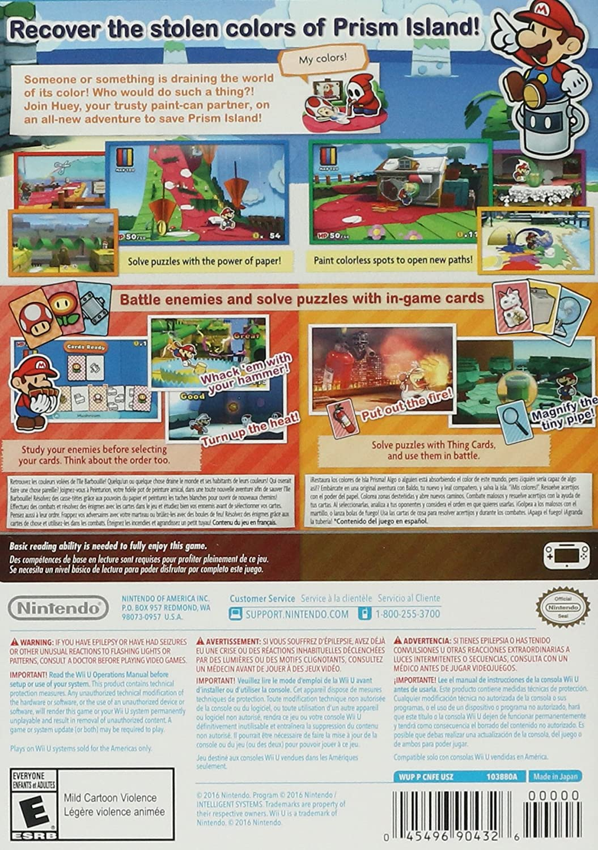 Amazon com: Paper Mario: Color Splash - Wii U Standard Edition