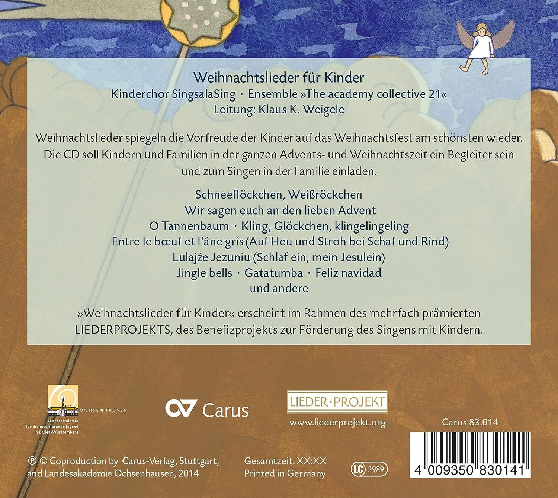 Weihnachtslieder für Kinder - Kinderchor SingsalaSing, The academy ...