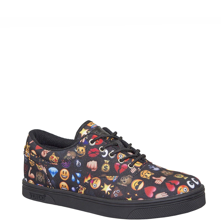 Vlado Footwear Boys Emoji Black Milo Low Top Sneakers Size 5.5