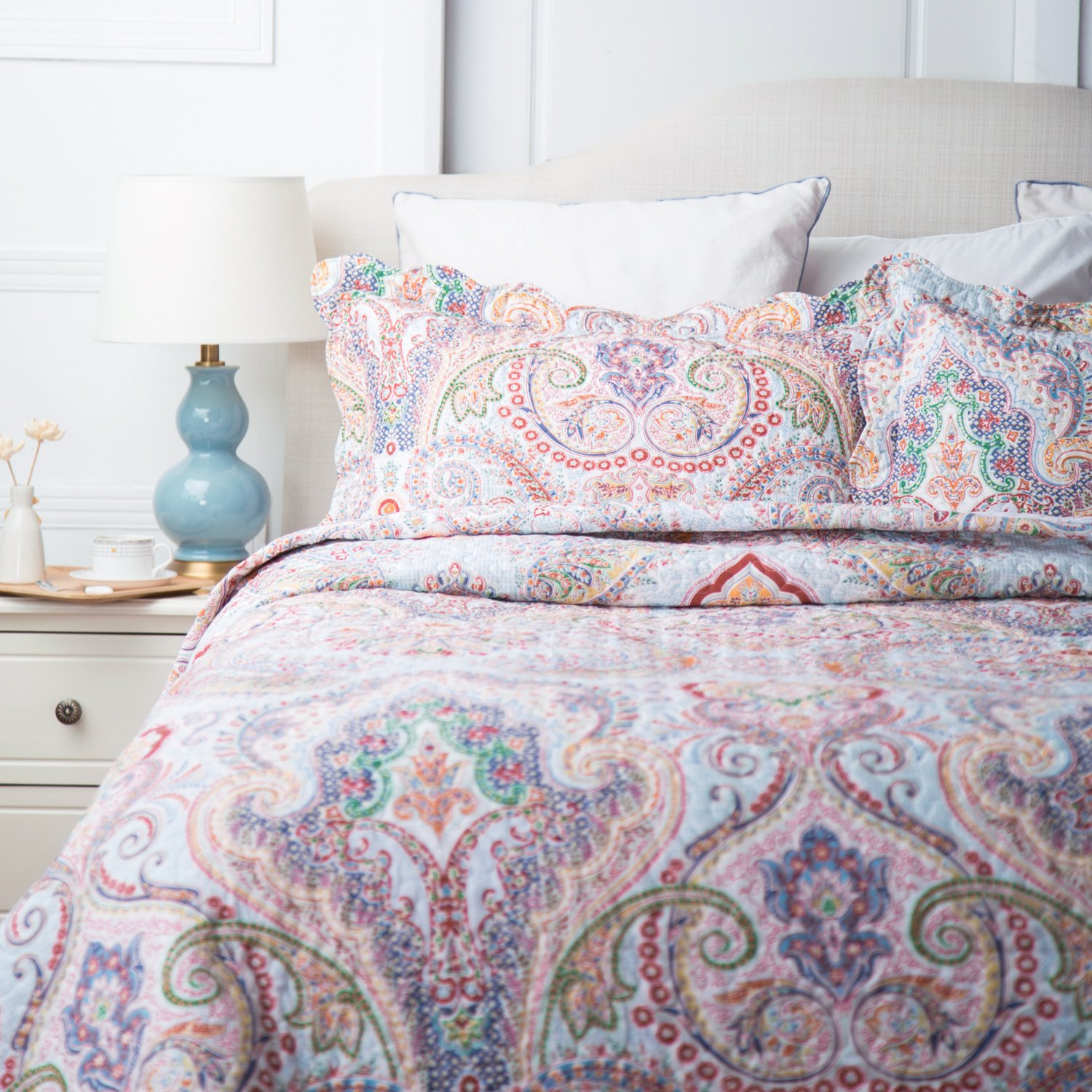 Printed Quilt Coverlet Set King(106\