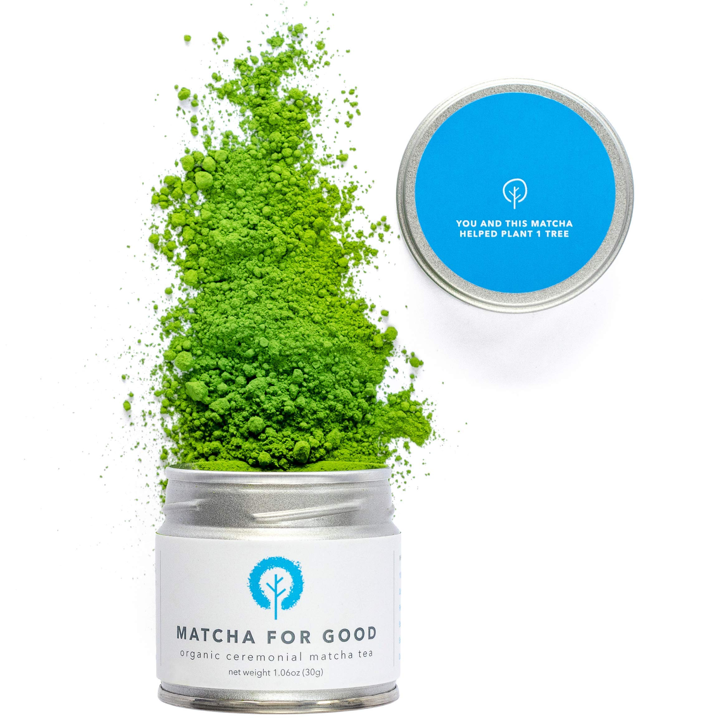 Matcha for Good - Organic Ceremonial-Grade Superior Matcha - Hand-Picked First-Harvest One-for-One Single-Origin Stone-Ground Japanese Green Tea Powder