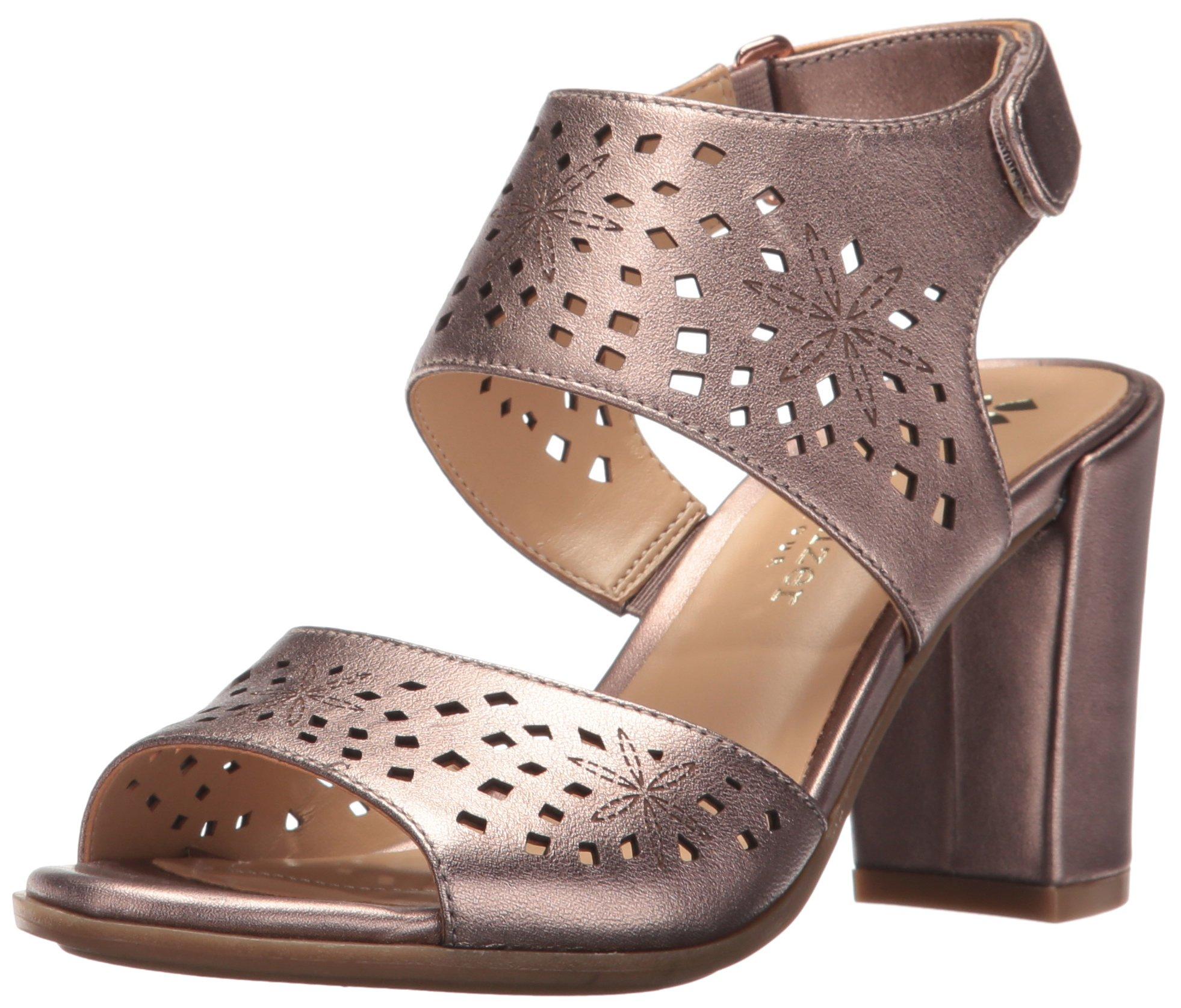 Naturalizer Women's Zinna Dress Sandal, Bronze, 9 M US
