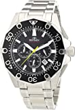 Rotary Men's Quartz Black Dial Chronograph Display and Silver Stainless Steel Bracelet AGB00033/C/04