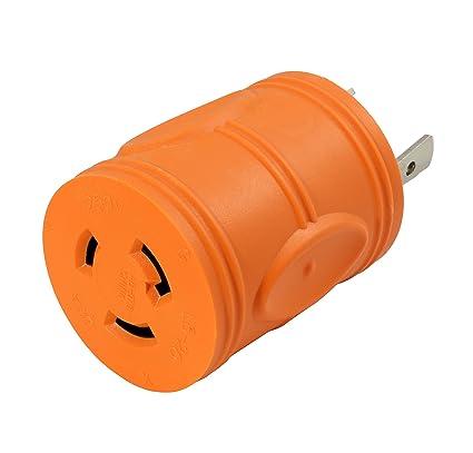 AC WORKS [ADL630L620] Plug Adapter L6-30P 30Amp 250Volt Male Plug to on 120 volt outlet diagram, 3 wire 220 outlet diagram, 3 wire 220 volt diagram, 110 ac outlet diagram, 4 wire 220 volt diagram, nema l6 30 wiring diagram, nema l6-30p diagram,