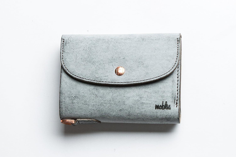 moblis(モブリス) イタリアンレザー/3折ウォレット B077MZGDYL ワックスグレー ワックスグレー -