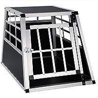EUGAD Hundebox Transportbox Hundetransportbox Aluminium 1 Türig Reisebox Gitterbox Box Farbwahl EHT468