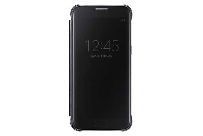 brand new fa48b 0df84 Samsung Galaxy S7 Case S-View Clear Flip Cover - Black (NOT FOR S7 EDGE)