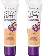 Rimmel Stay Matte Foundation, True Beige, 2 Count