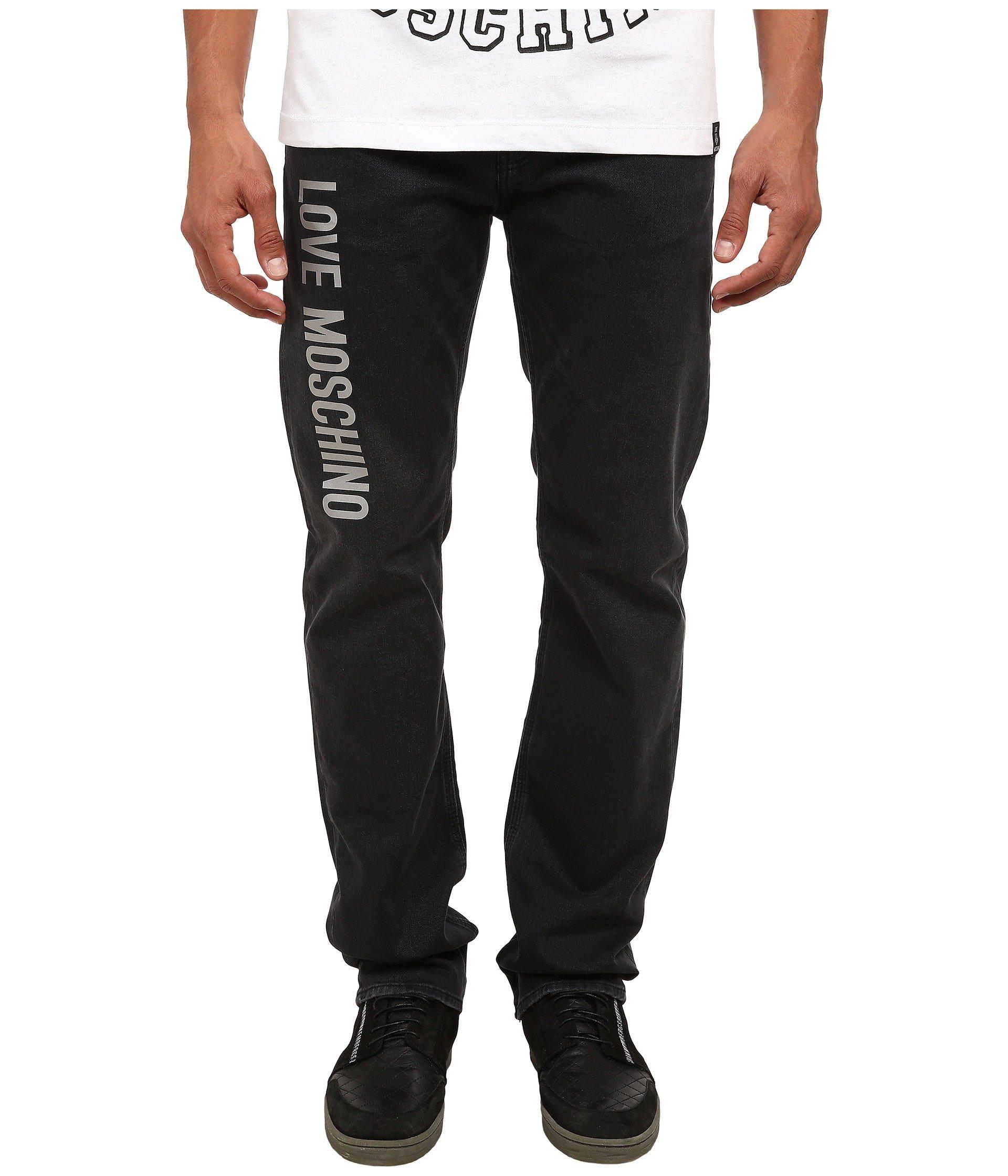 MOSCHINO Love Side Logo Jeans, Black (36)