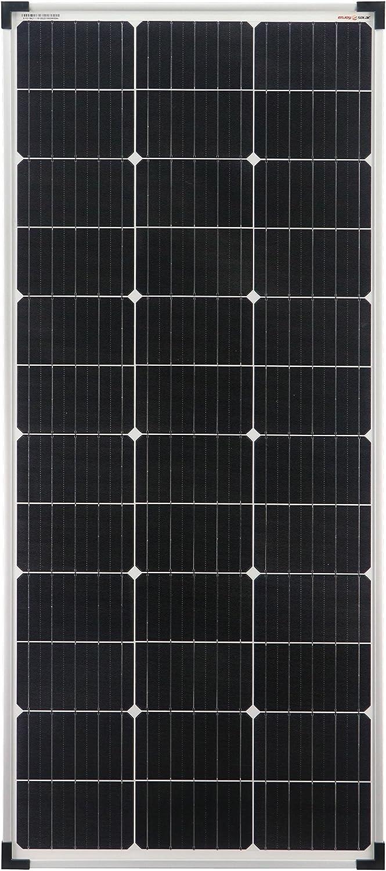 enjoysolar® Mono 100W Módulo solar 12 V Panel solar Monocristalino 100 W ideal para autocaravanas, casa de jardín, barco