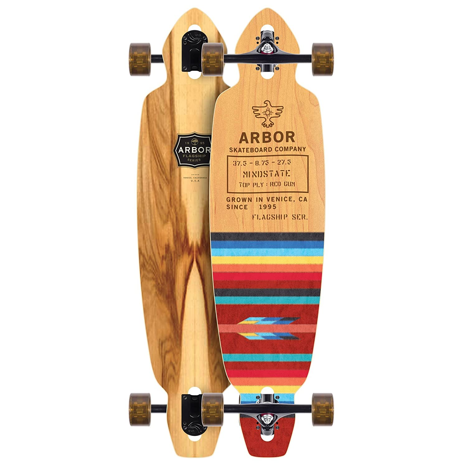 Arbor Mindstate Flagship Longboard Complete Sz 37.5 x 9.4in