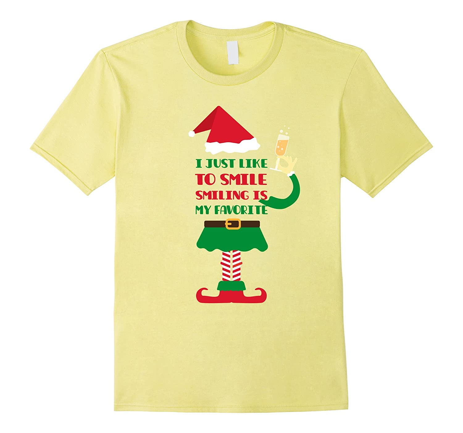 I Just Like to Smile, Smiling is my Favorite Christmas Shirt-Rose